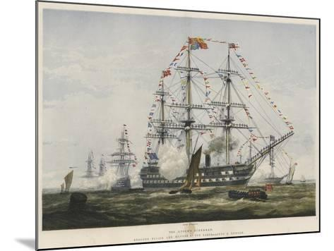 The Queen's Birthday, Colours Flying and Manned at the Yards-Edward Duncan-Mounted Giclee Print
