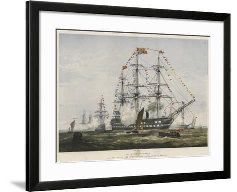 The Queen's Birthday, Colours Flying and Manned at the Yards-Edward Duncan-Framed Art Print