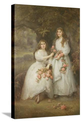 Portrait of the Daughters of the Duke of Manchester, 1894-Edward Hughes-Stretched Canvas Print