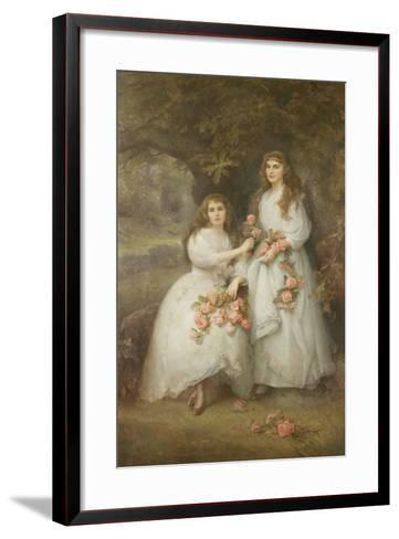 Portrait of the Daughters of the Duke of Manchester, 1894-Edward Hughes-Framed Art Print