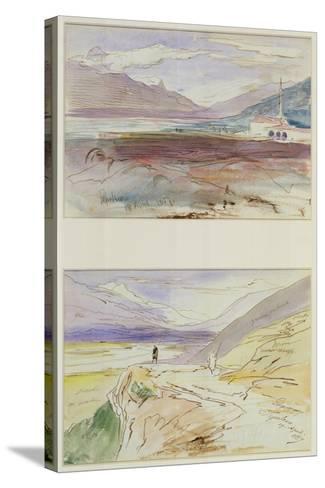 Tepelene, 1857-Edward Lear-Stretched Canvas Print