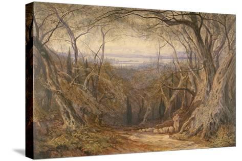 Corfu, 1871-Edward Lear-Stretched Canvas Print