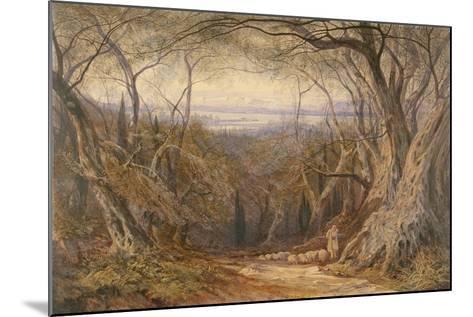 Corfu, 1871-Edward Lear-Mounted Giclee Print