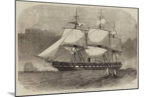 The United States' Steam-Frigate Merrimac-Edwin Weedon-Mounted Giclee Print