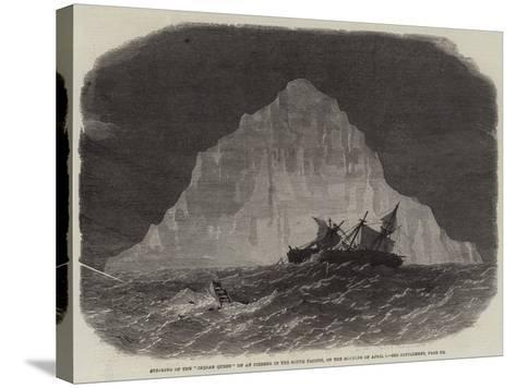 Striking of the Indian Queen on an Iceberg in the South Pacific, on the Morning of 1 April-Edwin Weedon-Stretched Canvas Print