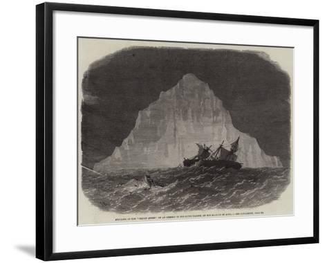 Striking of the Indian Queen on an Iceberg in the South Pacific, on the Morning of 1 April-Edwin Weedon-Framed Art Print