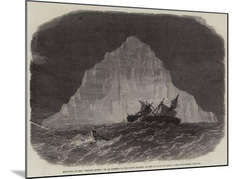 Striking of the Indian Queen on an Iceberg in the South Pacific, on the Morning of 1 April-Edwin Weedon-Mounted Giclee Print