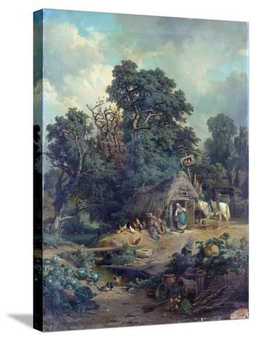 Peasant Landscape-Edouard-Theophile Blanchard-Stretched Canvas Print