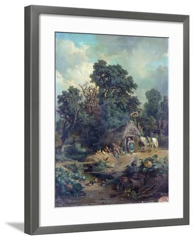 Peasant Landscape-Edouard-Theophile Blanchard-Framed Art Print