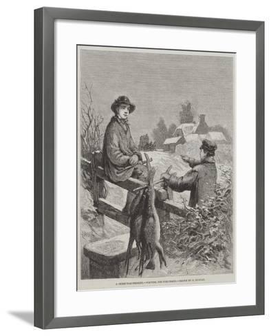 A Christmas Present, Waiting for the Coach-Edward Duncan-Framed Art Print
