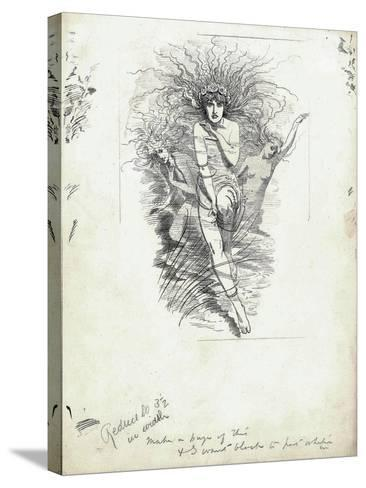 Fairy Queen from 'The Water-Babies' by Charles Kingsley-Edward Linley Sambourne-Stretched Canvas Print