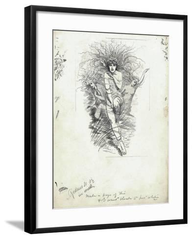 Fairy Queen from 'The Water-Babies' by Charles Kingsley-Edward Linley Sambourne-Framed Art Print