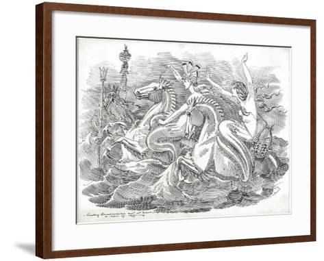 The Blue Riband of the Ocean, 1899-Edward Linley Sambourne-Framed Art Print