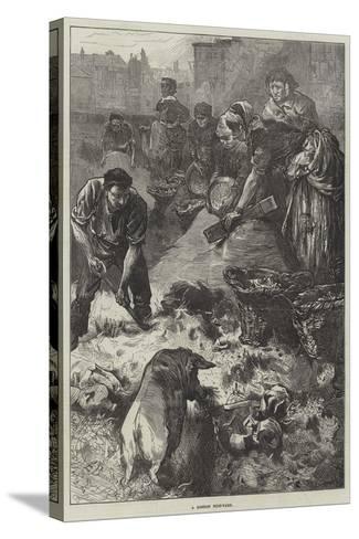 A London Dust-Yard-Edwin Buckman-Stretched Canvas Print