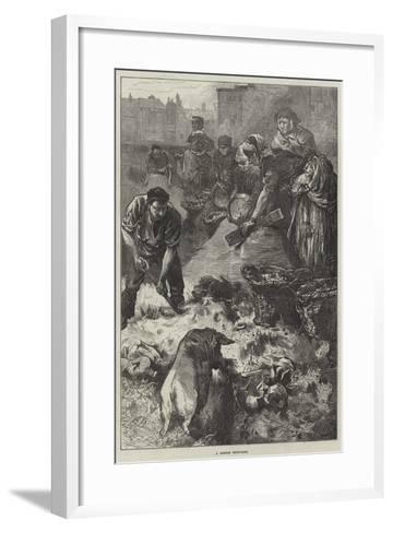 A London Dust-Yard-Edwin Buckman-Framed Art Print