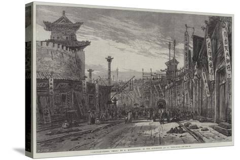 Circular-Street, Pekin-Eduard Hildebrandt-Stretched Canvas Print