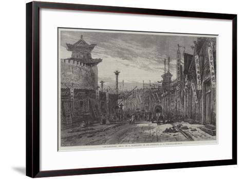 Circular-Street, Pekin-Eduard Hildebrandt-Framed Art Print