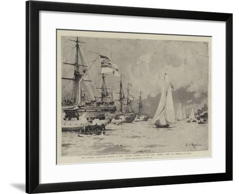 The Imperial Yacht-Club Regatta at Kiel-Eduardo de Martino-Framed Art Print