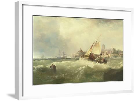 New Castle on the Delaware, 1857-Edward Moran-Framed Art Print