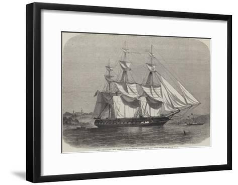 HMS Euryalus, the Vessel in Which Prince Alfred Takes His First Voyage to Sea-Edwin Weedon-Framed Art Print