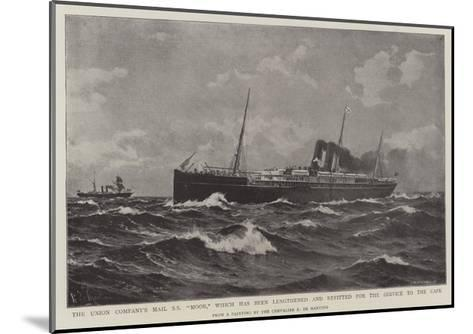 The Union Company's Mail Ss Moor-Eduardo de Martino-Mounted Giclee Print