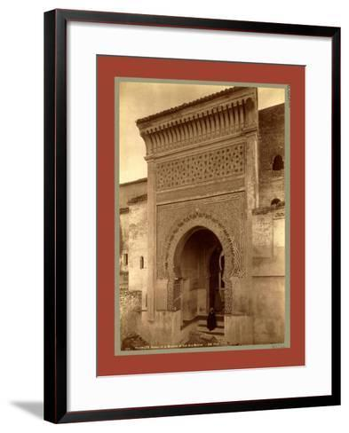 Tlemcen, Portal of the Mosque of Sidi Bou Medina, Algiers-Etienne & Louis Antonin Neurdein-Framed Art Print