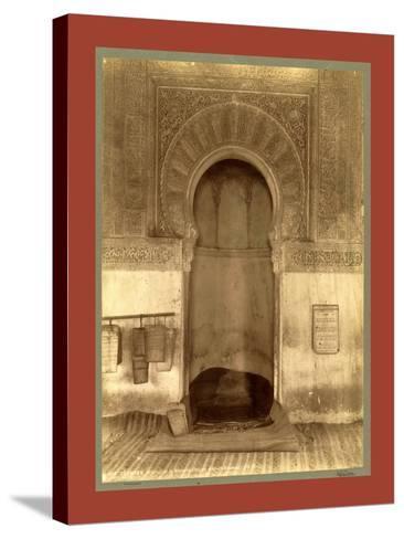 Tlemcen, the Madrasa Mihrab, Djama Abd Al-Kassem, Algiers-Etienne & Louis Antonin Neurdein-Stretched Canvas Print