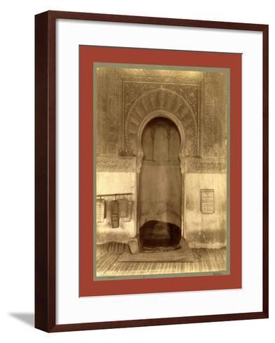 Tlemcen, the Madrasa Mihrab, Djama Abd Al-Kassem, Algiers-Etienne & Louis Antonin Neurdein-Framed Art Print
