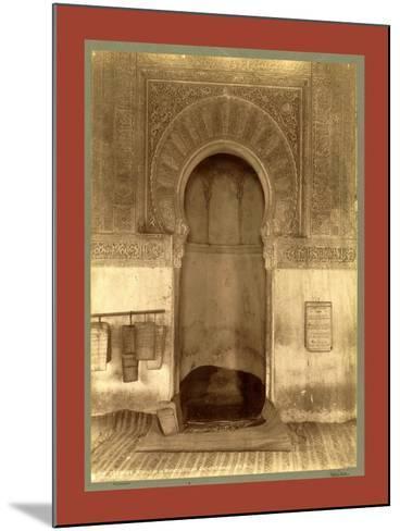 Tlemcen, the Madrasa Mihrab, Djama Abd Al-Kassem, Algiers-Etienne & Louis Antonin Neurdein-Mounted Giclee Print