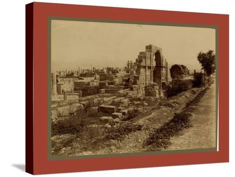 Tebessa Ruins of Byzantine Basilica, Side Door, Algiers-Etienne & Louis Antonin Neurdein-Stretched Canvas Print