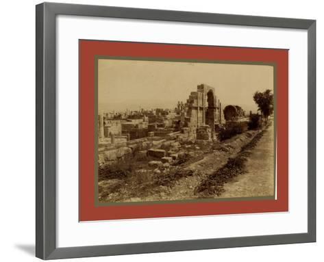 Tebessa Ruins of Byzantine Basilica, Side Door, Algiers-Etienne & Louis Antonin Neurdein-Framed Art Print