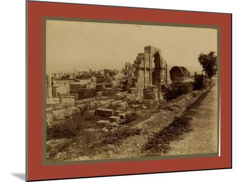 Tebessa Ruins of Byzantine Basilica, Side Door, Algiers-Etienne & Louis Antonin Neurdein-Mounted Giclee Print