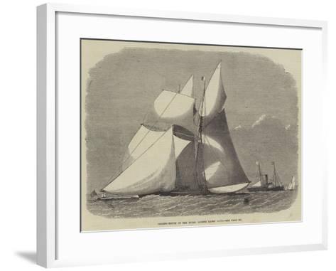 Sailing-Match of the Royal London Yacht Club-Edwin Weedon-Framed Art Print
