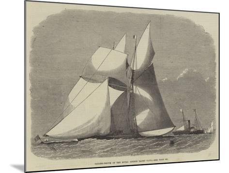 Sailing-Match of the Royal London Yacht Club-Edwin Weedon-Mounted Giclee Print