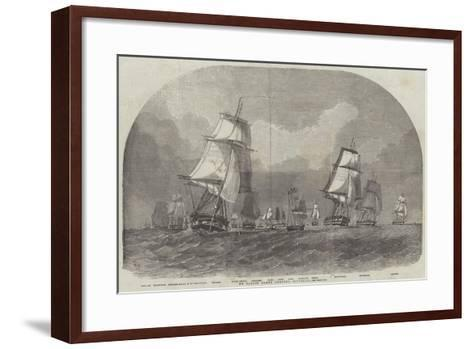The Baltic Fleet Leaving Spithead-Edwin Weedon-Framed Art Print