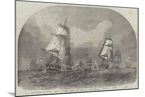 The Baltic Fleet Leaving Spithead-Edwin Weedon-Mounted Giclee Print
