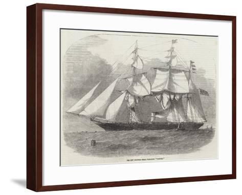 The New Colonial Steam War-Sloop Victoria-Edwin Weedon-Framed Art Print