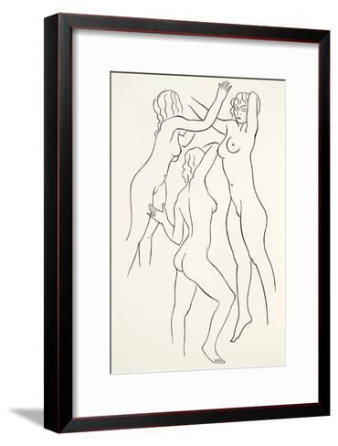 Three Female Nudes, 1938-Eric Gill-Framed Art Print