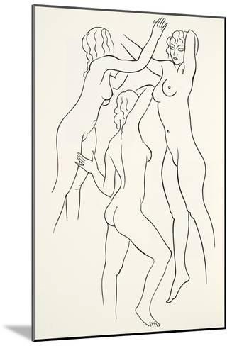 Three Female Nudes, 1938-Eric Gill-Mounted Giclee Print