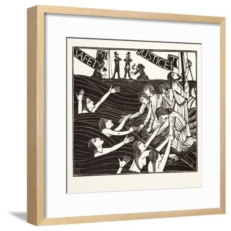 Safety First, from 'The Labour of Women', 1924-Eric Gill-Framed Art Print