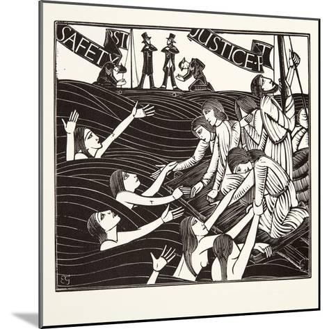 Safety First, from 'The Labour of Women', 1924-Eric Gill-Mounted Giclee Print