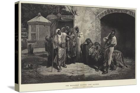 The Marabout (Sacred) Lion, Algiers-Eugene Pavy-Stretched Canvas Print