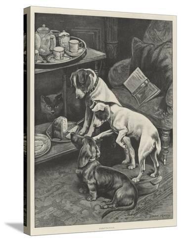 Temptation-Fannie Moody-Stretched Canvas Print