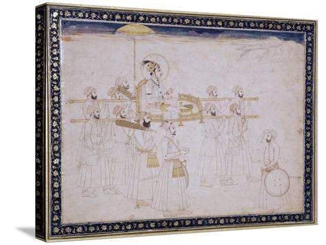 Muhammad Shah Carried in a Palanquin, C.1735- Faqir-ullah-Stretched Canvas Print
