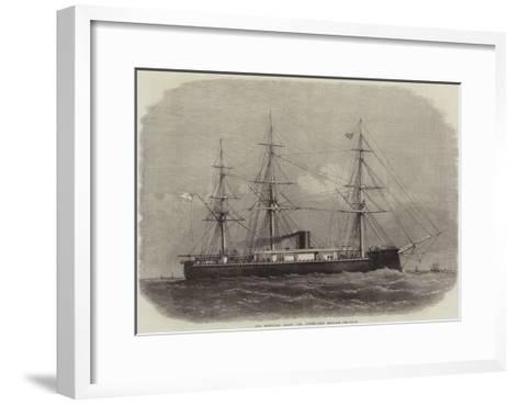 Our Iron-Clad Fleet, the Turret-Ship Monarch-Edwin Weedon-Framed Art Print