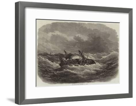 The Crocodile Indian Troop-Ship in a Storm-Edwin Weedon-Framed Art Print