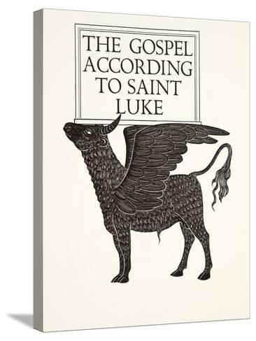 The Black Calf of St. Luke, 1931-Eric Gill-Stretched Canvas Print