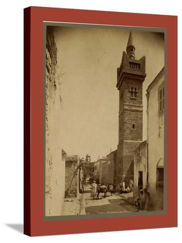 Tebessa Mosque Street Caracalla, Algiers-Etienne & Louis Antonin Neurdein-Stretched Canvas Print