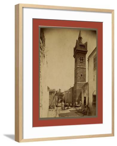 Tebessa Mosque Street Caracalla, Algiers-Etienne & Louis Antonin Neurdein-Framed Art Print
