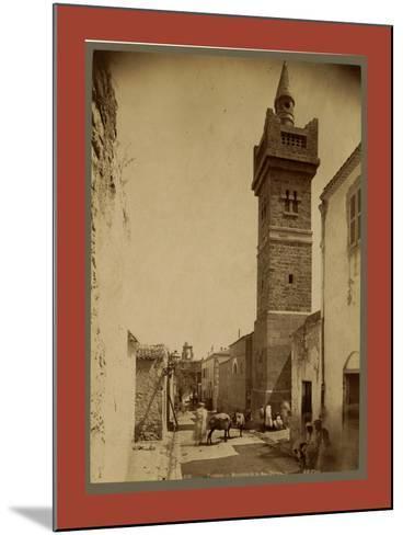 Tebessa Mosque Street Caracalla, Algiers-Etienne & Louis Antonin Neurdein-Mounted Giclee Print